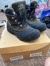 Boys Northface Winter Boots Hiking Lace Up HeatSeeker Kids Youth Brown Size 4