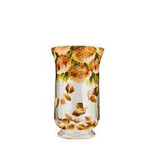 Jozefina Atelier Falling Cream Rose-300 Decorative Centerpiece Vase, Glass Vase