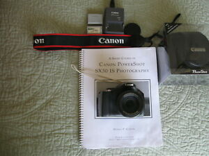 Canon PowerShot SX30 IS 14.1MP 35X 64GB SD Card Canon Case 2 Batteries&Charger