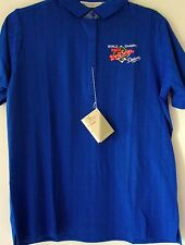 Wilson Womens Polo Shirt Large 1988 Dodgers World Champs Blue Ribbed Golf Shirt