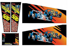 I500 Indianapolis 500 Pinball Machine Cabinet Decals - NEXT GEN - LICENSED