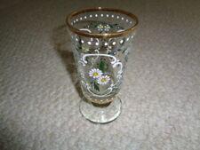 Moser Bohemian painted enamel daisy liquor glass Victorian forget me knots