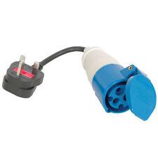 UK Plug to Caravan Site Outdoor Power Electric Hook Up Adapter [004947]