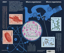 More details for belgium science stamps 2021 mnh microorganisms biology microscopes 5v m/s