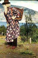 VA07 ORIGINAL KODACHROME 35MM SLIDE NORWAY COSTUME OLD MAN CUSTOM CULTURE