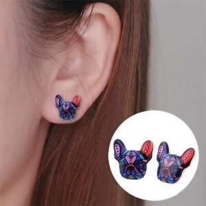 French Bulldog Earrings Gift For Frenchie Dog Lovers Stud Earrings for Women