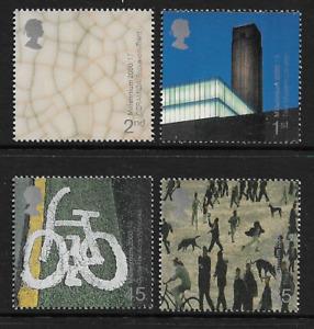 2000 GREAT BRITAIN Millennium Projects - Art & Craft Set MNH (SG 2142-2145)