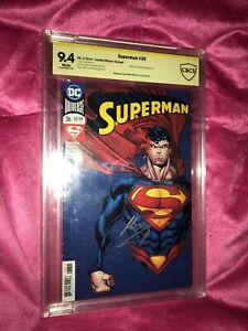 Superman 36 Jonboy Meyers Variant CBCS 9.4 Signed By Superman Henry Cavill !!!