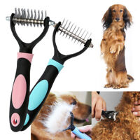 Pet Cat Dog Dematting Grooming Deshedding Trimmer Tools Hair Comb Brush Rake US