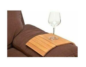 apollo THE HOUSEWARES BRAND 8512 Apollo Hevea Wood Flexible Sofa Tray