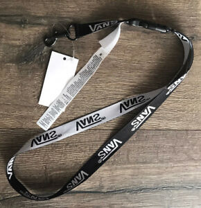 Vans Off The Wall Classic Black/White ID Badge Lanyard
