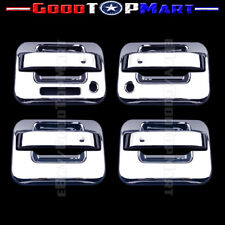 For Ford F150 2004-2014 Chrome Covers Set 4 Door Handles WITH Keypad & Keyhole