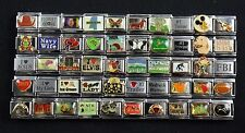 Italian Charms 50 assorted Stainless Steel Wholesale Lot 9mm  (C50-86)