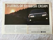 SAAB 9000 GRIFFIN 3 LITRE SUPERCAR POSTER ADVERT READY FRAME A3 SIZE F