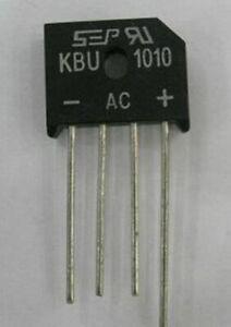 1PCS/5PCS KBU1010 10 AMP SILICON BRIDGE RECTIFIER