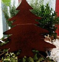 Edelrost Weihnachtsbaum  Tanne  Beetstecker Gartenstecker braun Christmas Deko14