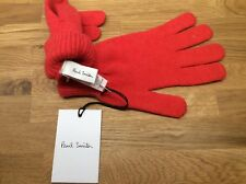 DESIGNER PAUL SMITH 100% CASHMERE RED / ORANGE KNIT GLOVES BNWT RRP £95