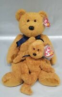 Ty Buddy + Beanie Baby - FUZZ the bear - Plush Stuffed Toy