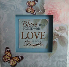Home Wooden 3D Wall Plaque BLESS OUR HOME WITH LOVE AND LAUGHTER