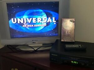 4 Head Panasonic VCR VHS PV4521 Video Cassette recorder Tested Working / Remote