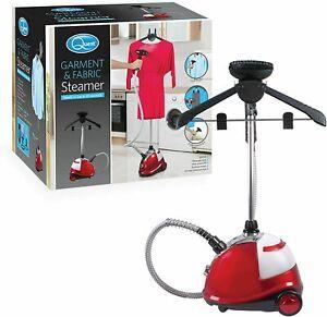Quest 42320 Upright Garment and Fabric Steamer, 1800 Watt, Plastic, W, Red