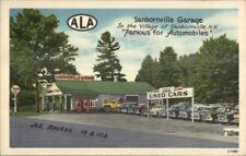 Sanbornville NH Used Car Dealership Tydol Gas Station NICE LINEN Postcard