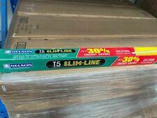 8 X Nelson T5 120cm Slimline Light Fitting Diffused Batten Fixture 4000K M5FD128