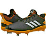 Adidas Adizero Afterburner V Metal Baseball Cleats Black/Yellow AQ0097 Size 13