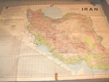 1956 IRAN Master Joint Fund Operations Engineering & Construction Div Folded Map