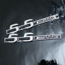 2x 5.5AMG Black Metal Sticker Badge Emblem e550 Sport Coupe suv 3D g550 Utility
