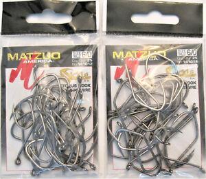 50 Matzuo Fishing 141012 Black Octopus Sickle Fish Hooks 6/0 (2pks of 25)