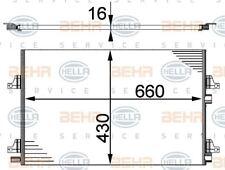 8FC 351 301-434 HELLA Condenser  air conditioning