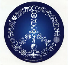 CS141 - Coexist Peace Symbol Interfaith Color Sticker