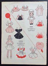 1942, Patricia & Sunny Mag. Paper Dolls, Wee Wisdom Mag.,Dorothy Wagstaff Art
