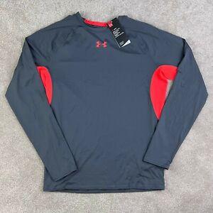 Under Armour Compression Shirt UA HeatGear Mens 2XL XXL Long Sleeve Gray Active