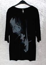 Million X stylisches Damen Shirt/Tunika schwarz Gr. 44