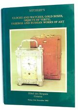 Catalogo Asta Sothesby's - Orologi - Clocks and Watches - Faberge - 1982