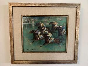 Denes De Holesch Oil painting Jockeys