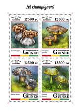 Guinea 2018 MNH Mushrooms Boletus 4v M/S Champignons Fungi Nature Stamps