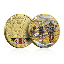 More details for the falklands war collection collectable gold coin - the battle for mount kent