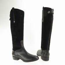 32fe84ddcaa9 Womens Sam Edelman Pembrooke Shoes Black Suede Knee High Riding Boots Sz 6 M  NEW
