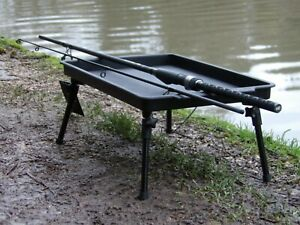New Large Lightweight Bivvy Table Bait Adjustable Legs Carp Fishing Camping