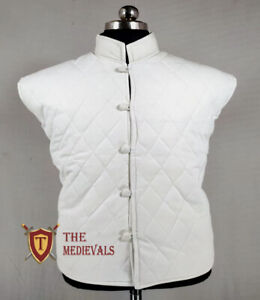 Gambeson VEST Thick Padded Costume Dress Medieval Aketon Jacket Armor