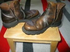 Men's Italian Boot Distress Leather By Argent Made in Italy 7 1/2. Europe 41