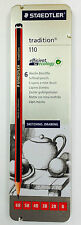 STAEDTLER tradition 110 Softlead Pencils Tin of 6 Sketching Drawing