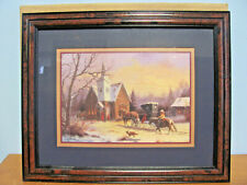 Home Interiors Going To Church Horse And Buggy M. Caroselli Framed Matted Print
