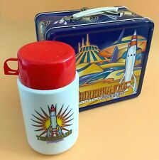 Disneyland Cast Exclusive New Tomorrowland Metal Lunchbox and Thermos 1998