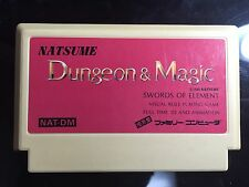 FC Natsume Dungeon & Magic Japan import Nintendo NES