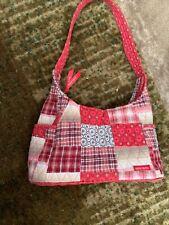 Bella Taylor Pink,  Red, White Quilted Patchwork Purse Hobo Shoulder Handbag