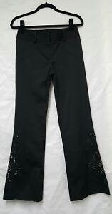 Women Next Black Trousers Size 8 Embellished Trousers Women Black Trousers